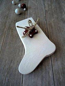 Dekorácie - Ozdoba vianočná - Mikulášska pančucha - 7136866_