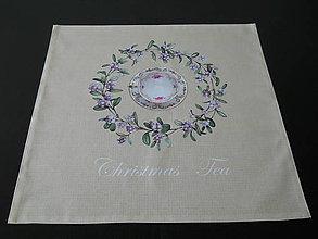 Úžitkový textil - Vianočný obrúsok - Shabby III - 7135421_