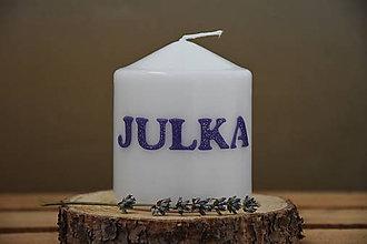 Svietidlá a sviečky - sviečka s menom - Julka - 7134888_