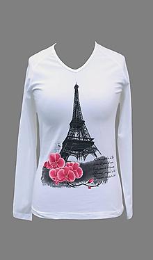 Tričká - Tričko s Eiffelovou vežou - 7136803_