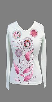 Tričká - Tričko s aplikáciami - Haky-baky ružové - 7137026_