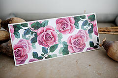 Papiernictvo - Obálka na peniaze - ruže - 7134954_