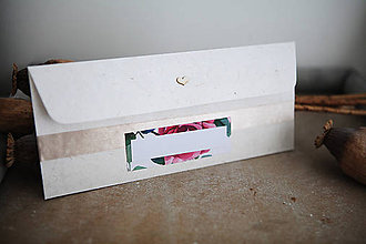 Papiernictvo - Obálka na peniaze - ruže - 7134952_