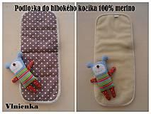 Textil - Podložka do hlbokého kočíka 100% merino - 7136763_