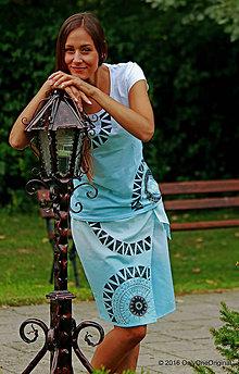Sukne - Sukňa batikovaná, maľovaná, etno VALKÝRA - 7135414_