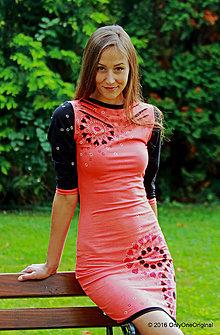 Šaty - Dámske šaty mini, maľované, etno RÁDHA - 7135524_
