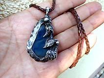 cínovaný náhrdelník z modrého achátu 2