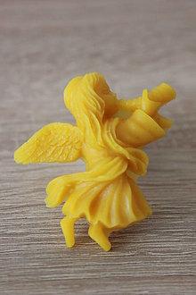 Magnetky - Magnetka zo 100% včelieho vosku - Anjelik - 7136338_