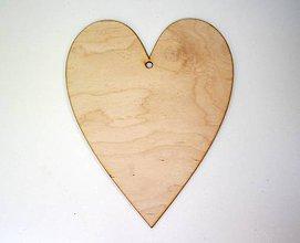 Polotovary - Drevené srdiečko Arabela -20x16 cm - 7136743_