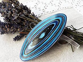 Ozdoby do vlasov - Spona do vlasov v odtieňoch modrej - 7134394_