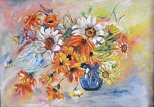 Obrazy - Kvety na stole - 7136436_