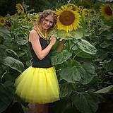 Sukne - Žltá tylová sukňa - 7137084_