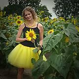 Sukne - Žltá tylová sukňa - 7137085_