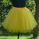 Sukne - Žltá tylová sukňa - 7137086_