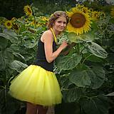 Sukne - Žltá tylová sukňa - 7137088_