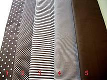 Textil - Bavlněná látka kombinace - hnědá - 7135780_