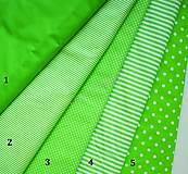 Textil - Bavlněná látka - kombinace jarná zelená - 7135856_