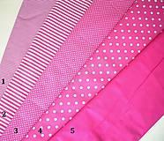 Textil - Bavlněná látka - kombinace tmavě růžová - 7135900_
