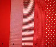 Bavlněná látka - kombinace červená