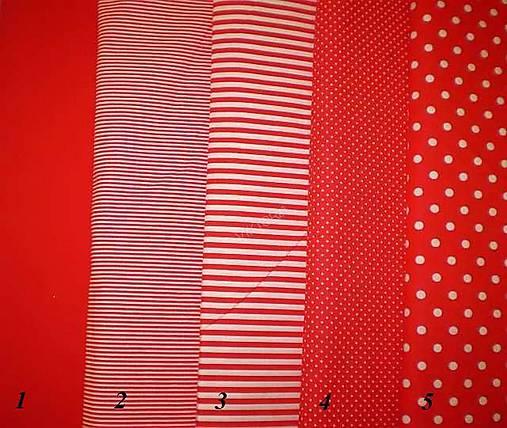 8b7afcf40 Bavlněná látka - kombinace červená / klariana - SAShE.sk - Handmade ...