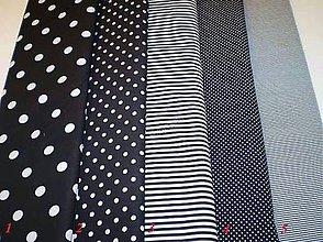 Textil - Bavlněná látka - kombinace černá - 7136215_