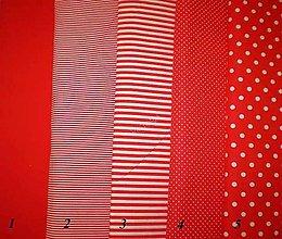 Textil - Bavlněná látka - kombinace červená - 7136806_