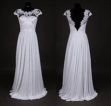 Šaty - Svadobné šaty s kruhovou sukňou a holým chrbátom - 7134286_
