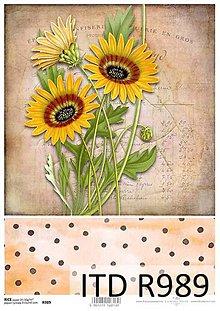 Papier - ryžový papier slnečnice - 7136212_