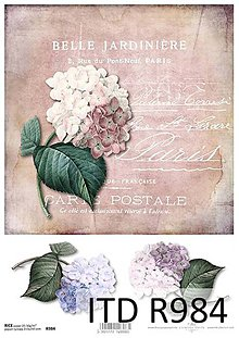 Papier - ryžový papier hortenzia - 7136273_
