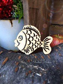 Dekorácie - Drevený výrez Ryba (B7) - 7133683_
