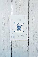 Papiernictvo - pohľadnica k narodeniu dieťatka - 7136721_