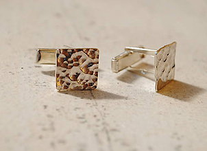 Iné šperky - Manžetové gombíky tepané \