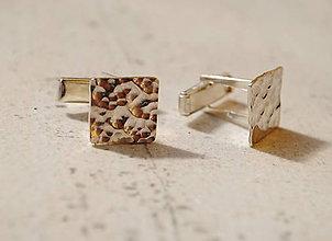 "Iné šperky - Manžetové gombíky tepané ""po daždi"" - 7138877_"