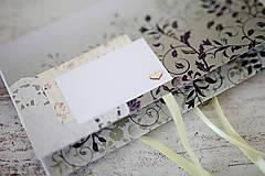 Papiernictvo - Scrapbook obálka na peniaze - svadobná - 7139805_