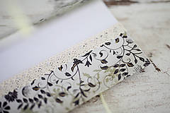 Papiernictvo - Scrapbook obálka na peniaze - svadobná - 7139806_