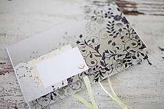 Papiernictvo - Scrapbook obálka na peniaze - svadobná - 7139807_