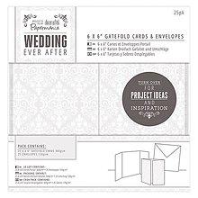 Papier - Skladačkové roztvárateľné svadobné pohľadnice & obálky  - Damask - 7138099_