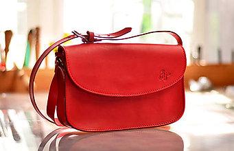 Kabelky - kožená kabelka TRIXY červená - 7137466_