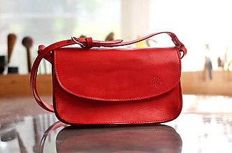 Kabelky - kožená kabelka TRIXY DOUBLE červená mat - 7140985_