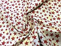 Textil - Bavlnená látka - hviezdičky vínové - cena za 10 cm - 7141030_
