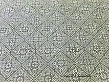 Textil - Bavlnená látka - vzor I šedá - cena za 10 cm - 7141066_