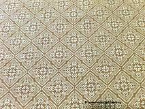 Textil - Bavlnená látka - vzor I zlato hnedá - cena za 10 cm - 7141069_