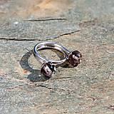 Prstene - Strieborný prsteň - Na stopke04 - 7140646_