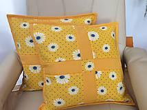 Úžitkový textil - vankúšik žltý - 7139232_