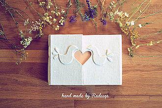 Papiernictvo - Svadobná kniha/plánovač - 7140259_