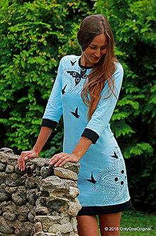 Šaty - Dámske šaty mini, batikované, maľované, etno MORFEA - 7138723_