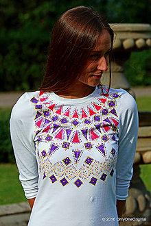 Šaty - Dámske mini šaty maľované, etno, folk LADA - 7138898_
