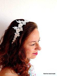 Ozdoby do vlasov - čipková čelenka biela - 7141040_