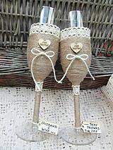 Nádoby - Svadobné poháre Husband & Wife - 7140788_