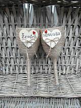 Nádoby - Svadobné poháre Nevesta a Ženích - 7140829_